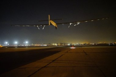 Solar Impulse 2 taking off.