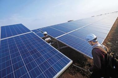 Costs of photovoltaic modules have been declining because of oversupply in China. Photo: Bloomberg