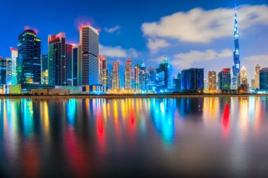 Dubai skyline. Image via Shutterstock.