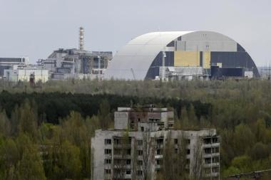 Chernobyl Nuclear Power Plant seen from Ukraine's abandoned town of Pripyat. Photo: Reuters