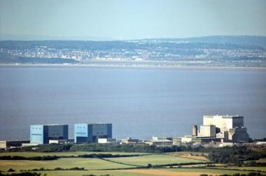Hinkley Point nuclear power station. By Di Richard Baker.