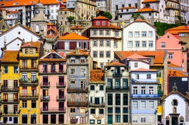 Old buildings in Porto, Portugal via Shutterstock.