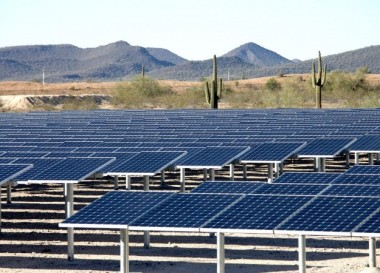 Desert solar farm. SunPower image.