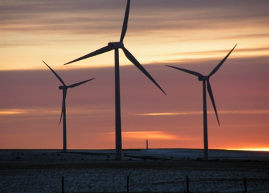 Onshore wind farm. Credit: Morgue File.