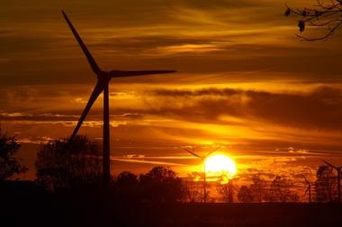 Wind turbines in Nova Scotia.