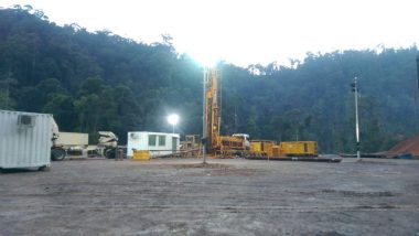 Drilling rig on site at Apas Kiri project, Malaysia (source: Tawau Green Energy)