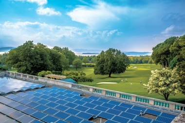 Solar power has proved a sound investment for local businesses like Sleepy Hollow Country Club.