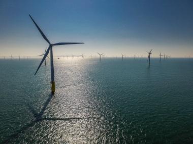 Gwynt y Môr wind farm. RWE photo.