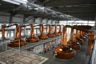 Roseisle Stillhouse, one of Diageo's distilleries. Image: Diageo.