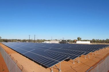 Solar PV installation in the Northern Territory.
