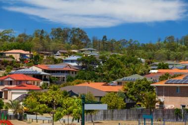 Rooftop solar arrays in Australia. Shutterstock.