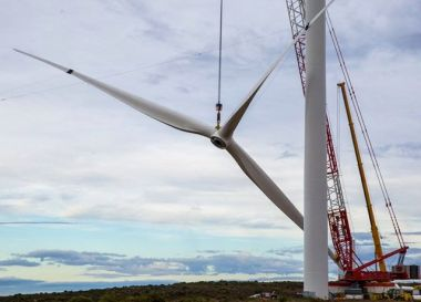 Wind turbine installation. Mainstream image.
