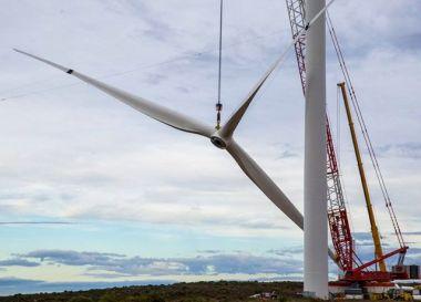Wind turbine installation. Mainstream image.