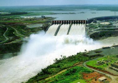 Hydro plant in Brazil.