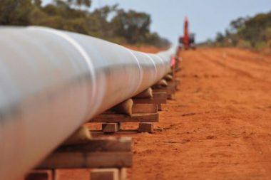 Australian gas pipeline.