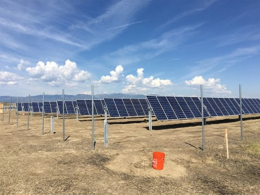 Clear Spring Ranch Solar Array. Courtesy: Amy Trinidad, Colorado Springs Utilities.