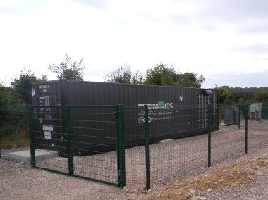 Energy storage system at Butleigh. RES photo.