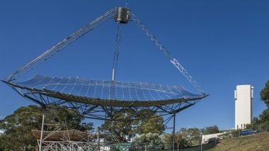 The ANU solar thermal dish. Image: Stuart Hay, ANU