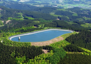 A pumped hydro storage facility. Photo: Wikimedia Commons
