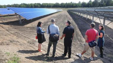 The 5-acre solar power array on the Fond du Lac Reservation features 3,230 panels in 10 rows. Bob King | Forum News Service