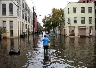 Floodwaters in Hoboken on October 31, 2012. (Gary Hershorn/Reuters)