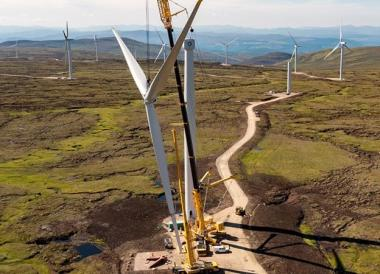 Dunmaglass wind farm. Image: www.aerialvision.scot/SSE.