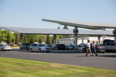 SunPower Helix Carport. Photo courtesy of SunPower.