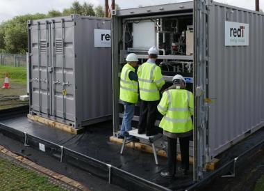 RedT battery storage at Power Networks Development Centre (RedT)