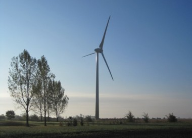 Wind turbine. (Boralex)