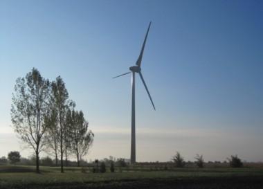 Wind turbine. (Boralex)