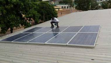 The 2.25 kW solar photovoltaic facility donated by NiFEG to Kaduna State University.