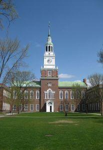 Baker Library at Dartmouth College. (Photo by Gavin Huang. CC BY SA. Wikimedia Commons)