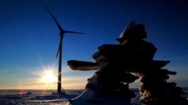 The Raglan Mine's wind turbine in Quebec. (Tugliq Energy Co.)