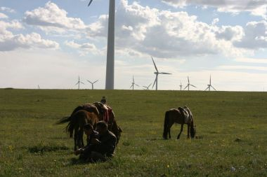 Huitengxile wind farm, Inner Mongolia, People's Republic of China (Photo by Steven Buss, CC BY SA, Wikimedia Commons)