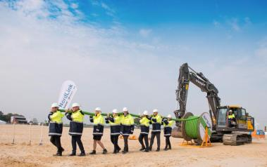 NordLink symbolic cable pulling and ground-breaking ceremony. (Source: TenneT Holding BV)