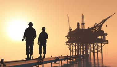 Offshore oil workers (Credit: iurii/Shutterstock)