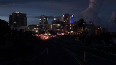 Blackout left parts of San Juan in the dark. (Reuters photo)