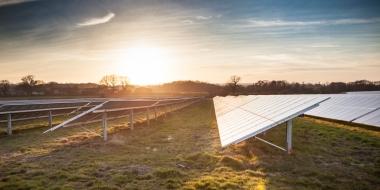 Solar farm at sunset (Lightsource image)