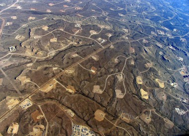Fracking field (Image via Simon Fraser University)