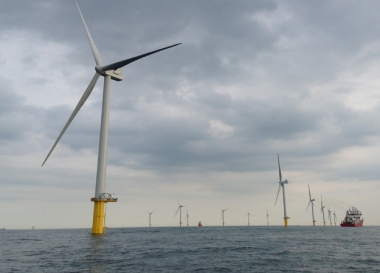 Humber Gateway offshore wind farm in the UK (E.ON image)
