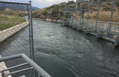 Intake for a micro-hydro plant in Colorado  (Cally Carswell for Inside Energy)