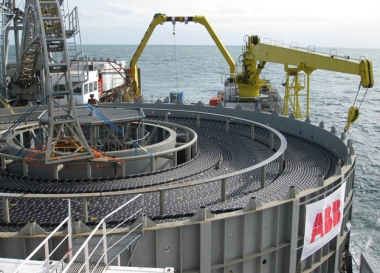 HVDC cable installation (Credit: ABB)