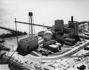 Fermi 1 nuclear plant (US government photo, public domain, Wikimedia Commons)