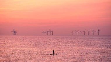 A paddleboarder in the Irish (SeaPaul Ellis | AFP | Getty Images)
