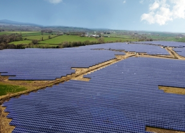 Whitland solar in Wales (Credit: BayWa)