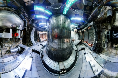 Interior of the Alcator C-Mod (Photo courtesy of  Bob Mumgaard / Plasma Science and Fusion Center)