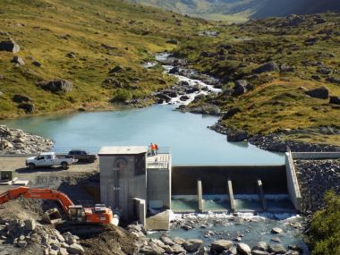 The Allison Creek Hydroelectric Project (Courtesy Copper Valley Electric)