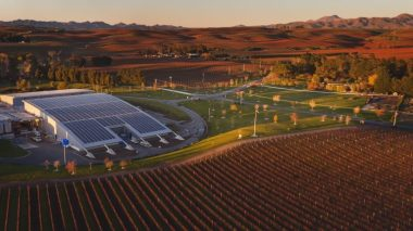 Yealands winery with 1,314 PV panels on the roof