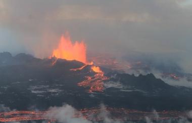 Emerging lava