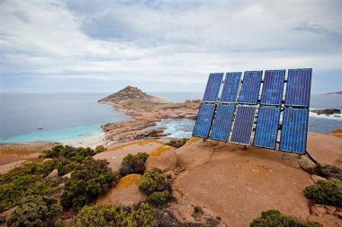 Solar panels on the Andaman & Nicobar Islands